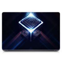 """Универсальная наклейка на ноутбук 15.6""""-13.3"""" Кубик Матовая 380х250 мм"""