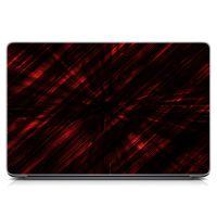 """Универсальная наклейка для ноутбука, 13.3""""-17.3"""" 400x260 мм Красный фон, 3D Матовая"""