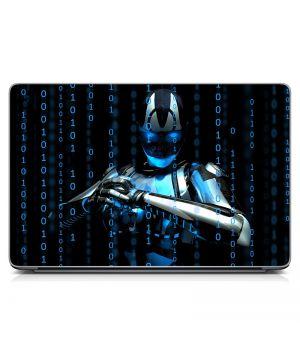 "Універсальна наклейка для ноутбука 15.6""-13.3"" Робот Матова 380х250 мм"