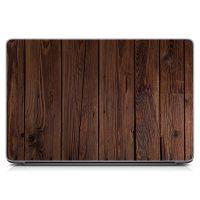 Стикер на ноутбук Доски, коричневая текстура Матовый