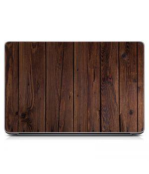 """Универсальная наклейка для ноутбука, 13.3""""-17.3"""" 400x260 мм Доски, коричневая текстура Матовый"""