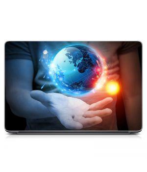 "Универсальная наклейка на ноутбук 15.6""-13.3"" Земля Матовая 380х250 мм"