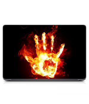 """Універсальна наклейка для ноутбука 15.6""""-13.3"""" Вогняна рука Матова 380х250 мм"""