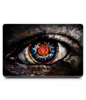 """Универсальная наклейка на ноутбук 15.6""""-13.3"""" Глаз 3 Матовая 380х250 мм"""