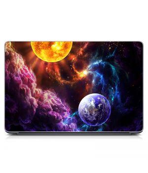 """Универсальная наклейка на ноутбук 15.6""""-13.3"""" Космо композиция Матовая 380х250 мм"""