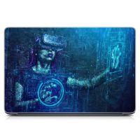 Виниловый стикер для ноутбука Виртуальная реальность Матовый