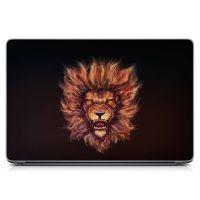 Виниловый стикер для ноутбука Грозный лев Матовый