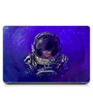 Виниловый стикер для ноутбука Девушка-космонавт Матовый