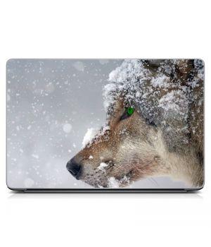 """Универсальная наклейка на ноутбук 15.6""""-13.3"""" Волк Матовый 380х250 мм"""