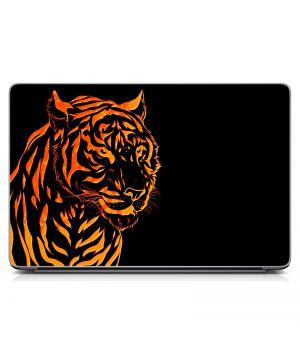 """Универсальная наклейка на ноутбук 15.6""""-13.3"""" Оранжевый тигр Матовая 380х250 мм"""