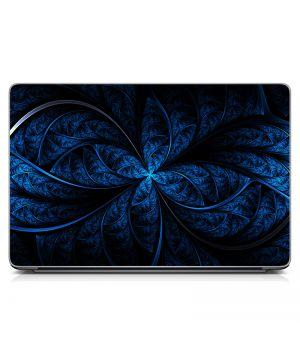 """Универсальная наклейка на ноутбук 15.6""""-13.3"""" Синий фон Матовая 380х250 мм"""