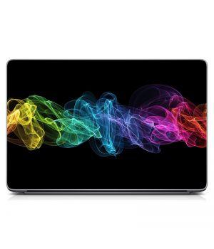 """Универсальная наклейка на ноутбук 15.6""""-13.3"""" Разноцветная дымка Матовая 380х250 мм"""