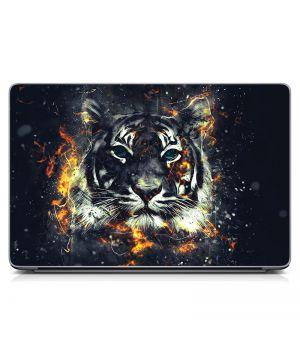 """Универсальная наклейка на ноутбук 15.6""""-13.3"""" Тигр, графит Матовая 380х250 мм"""