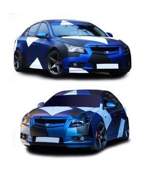 560х98 см, 3D Камуфляж на авто Chevrolet Cruze