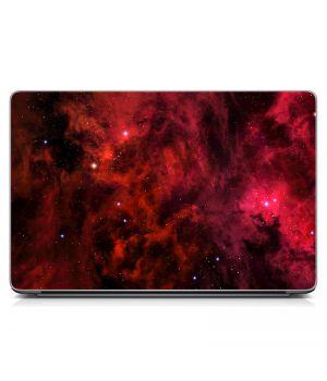"""Універсальна наклейка для ноутбука 15.6""""-13.3"""" Космос, червоний Матовий 380х250 мм"""