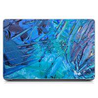 Стикер на ноутбук Синие мазки краски Матовый