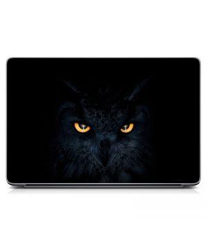 "Універсальна наклейка для ноутбука 15.6""-13.3"" Кот-сова Матова 380х250 мм"