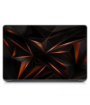 """Универсальная наклейка на ноутбук 15.6""""-13.3"""" Графит, абстракция Матовая 380х250 мм"""