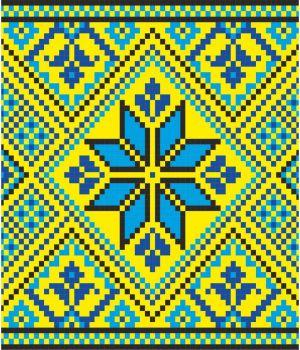 100х20 см, Вышиванка на авто желто-синяя 52_1