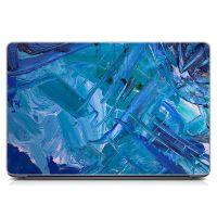 """Универсальная наклейка для ноутбука, 13.3""""-17.3"""" 400x260 мм Синие мазки Матовый"""