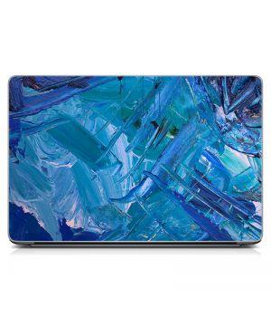 Стикер на ноутбук Синие мазки Матовый