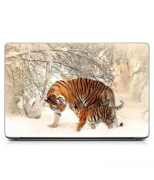 Стикер на ноутбук Тигры Матовый