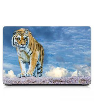 Виниловый стикер на ноутбук Тигр Матовый