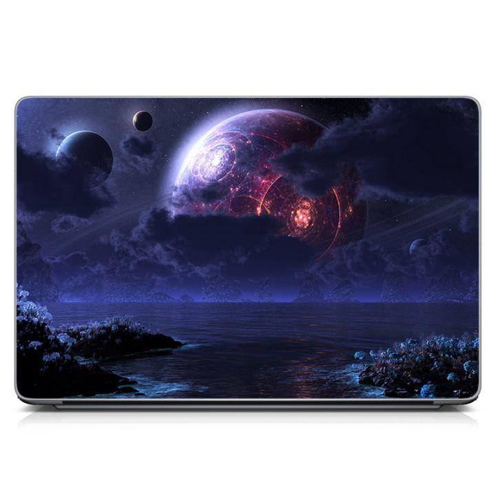 """Универсальная наклейка на ноутбук 15.6""""-13.3"""" Space Матовая 380х250 мм"""