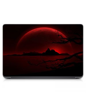 """Универсальная наклейка для ноутбука, 13.3""""-17.3"""" 400x260 мм Алый пейзаж Матовая"""
