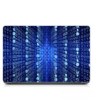 Виниловый стикер для ноутбука Бинарный код Матовый