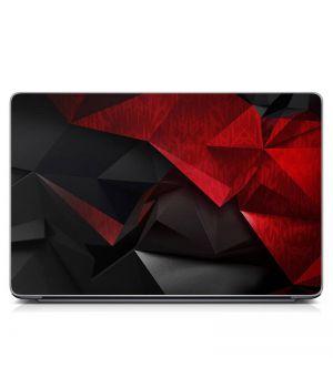 """Универсальная наклейка для ноутбука, 13.3""""-17.3"""" 400x260 мм Черно-красная абстракция Матовый"""