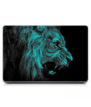 """Універсальна наклейка для ноутбука 15.6""""-13.3"""" Лев Матовий 380х250 мм"""