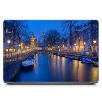 """Универсальная наклейка на ноутбук 15.6""""-13.3"""" Венеция Матовый 380х250 мм"""