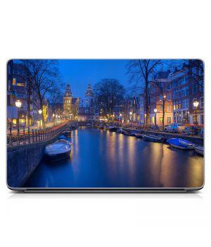 """Універсальна наклейка для ноутбука 15.6""""-13.3"""" Венеція Матовий 380х250 мм"""