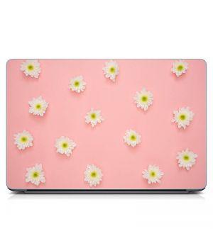 Стикер на ноутбук Ромашки на розовом Матовый