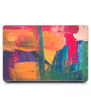 Стикер на ноутбук Разноцветные мазки Матовый