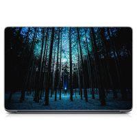 """Универсальная наклейка для ноутбука, 13.3""""-17.3"""" 400x260 мм Зимний лес Матовый"""