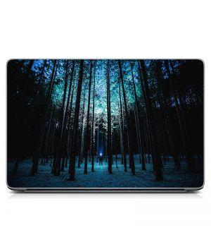 """Універсальна наклейка для ноутбука, 13.3""""-17.3"""" 400x260 мм Зимовий ліс Матовий"""