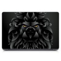 Виниловый стикер на ноутбук Лев графит Матовый