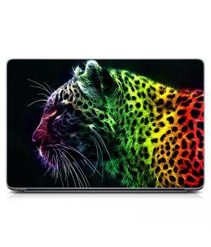"Универсальная наклейка на ноутбук 15.6""-13.3"" Разноцветный гепард Матовая 380х250 мм"