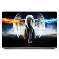"""Универсальная наклейка на ноутбук 15.6""""-13.3"""" Ангельская девушка Матовая 380х250 мм"""