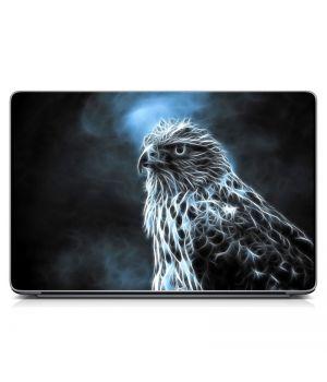 "Універсальна наклейка для ноутбука 15.6""-13.3"" Птах, срібло, Матова 380х250 мм"
