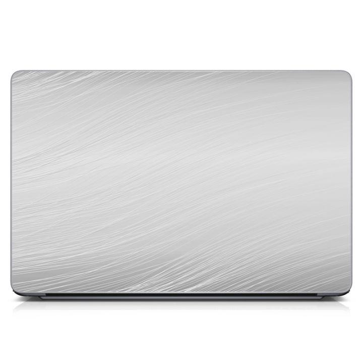 """Універсальна наклейка для ноутбука, 13.3""""-15.6"""" 380x250 мм Сірий фон Матова"""