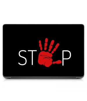 "Универсальная наклейка на ноутбук 15.6""-13.3"" Stop Матовая 380х250 мм"
