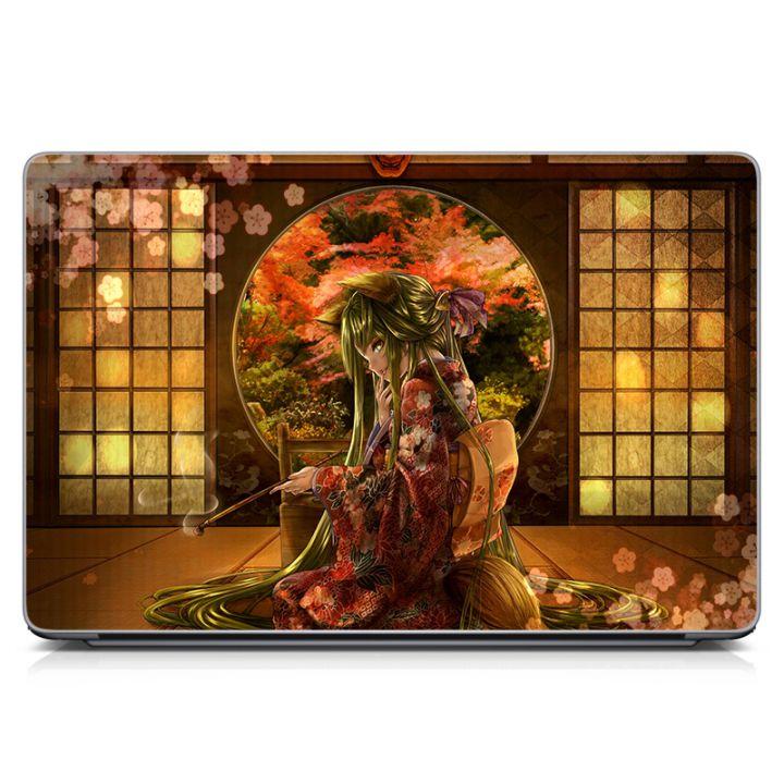 Виниловая наклейка для ноута Японская девушка, аниме Матовая