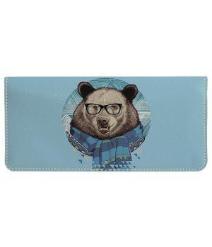 Портмоне v.2.0. 774 Ведмідь стиляга в окулярах (еко-шкіра)