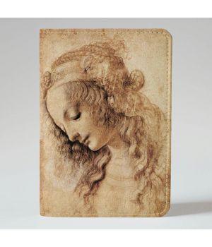 Обложка на паспорт 993 Леонардо да Винчи Голова женщины (эко-кожа)