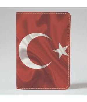 Обложка на паспорт 995 Флаг Турции на ветру (эко-кожа)