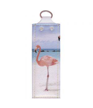 Ключница v.1.0. 733 Фламинго и море (эко-кожа)