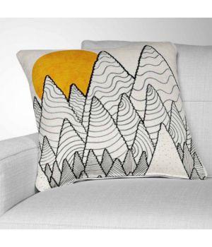 Декоративная подушка с рисунком The forest over the tangled waves